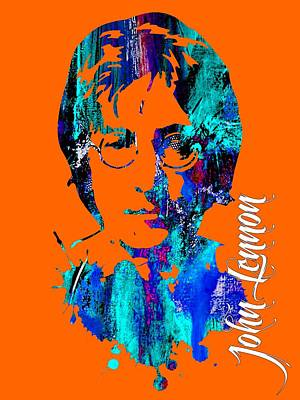 Rock And Roll Mixed Media - John Lennon Collection by Marvin Blaine
