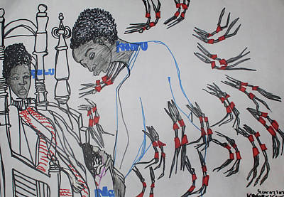 Painting - Kintu And Nambi  Folktale by Gloria Ssali