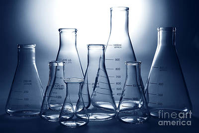 Laboratory Equipment In Science Research Lab Art Print by Olivier Le Queinec