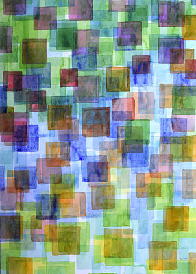 Squares In All The Colors Of The Rainbow Art Print by Heidi Capitaine
