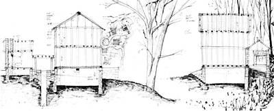 Drawing - 7.14.usa-4-detail-b by Charlie Szoradi