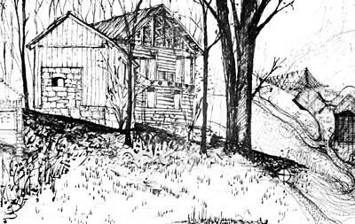 Drawing - 7.15.usa-4-detail-c by Charlie Szoradi