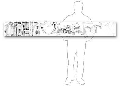 Drawing - 7.16.usa-5-horizontal-with-figure by Charlie Szoradi