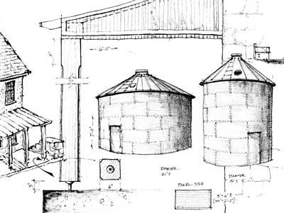 Drawing - 7.19.usa-5-detail.c by Charlie Szoradi