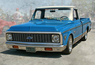 Photograph - '72 Chevy Truck by Victor Montgomery