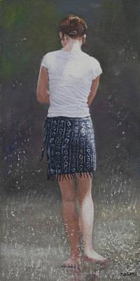 Painting - Fountain Girl by Masami Iida