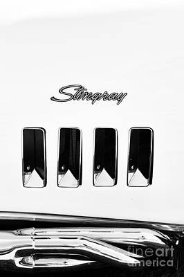 Exhaust Pipe Photograph - 72 Stingray Monochrome  by Tim Gainey
