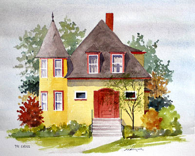 Painting - 721 Grove Ave by William Renzulli