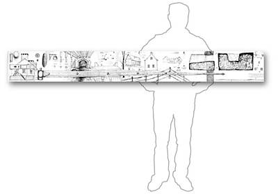 Drawing - 7.21.usa-6-horizontal-with-figure by Charlie Szoradi
