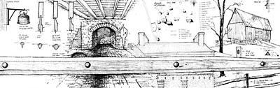 Drawing - 7.23.usa-6-detail-b by Charlie Szoradi