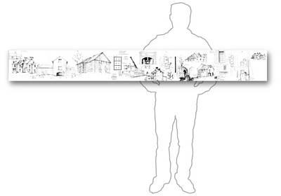 Drawing - 7.26.usa-7-horizontal-with-figure by Charlie Szoradi