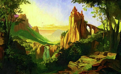 Sun Painting - Nature Art Landscape by Edna Wallen