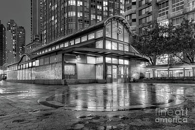 72nd Street Subway Station Bw Art Print