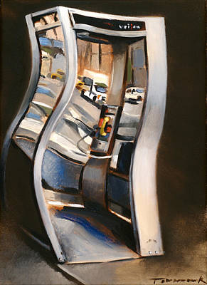Telephone Painting - 72nd Street Payphone Art Print by Tommervik