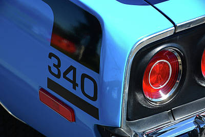 Photograph - '73 'cuda Tail Light by Mike Martin
