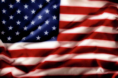 Usa Flag Digital Art - Usa Flag by Les Cunliffe