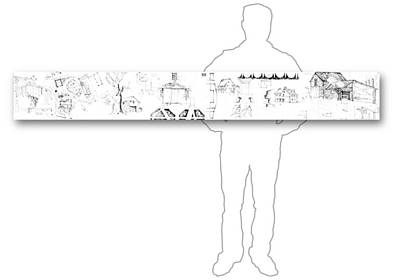 Drawing - 7.30.usa-8-horizontal-with-figure by Charlie Szoradi
