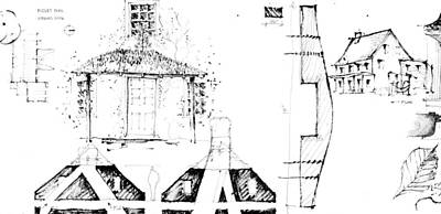 Drawing - 7.32.usa-8-detail-b by Charlie Szoradi
