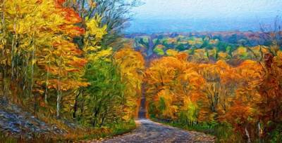 Yellow Painting - Landscape Oil Painting Nature by Margaret J Rocha