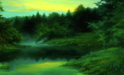 Oil Painting - Nature Landscape Light by Edna Wallen