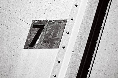 Photograph - 74 ...numerical by Tom Druin
