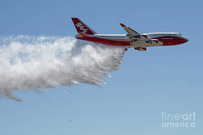 Photograph - 747 Supertanker Drop by Bill Gabbert