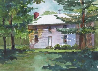 Seminary Painting - 748 Arrow Rock Seminary by Marilynne Bradley