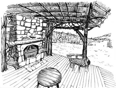 Adirondack Drawing - 7.49.usa-13 by Charlie Szoradi