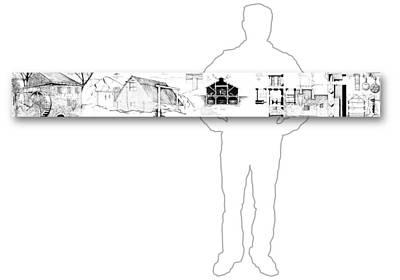Drawing - 7.4.usa-2-horizontal-with-figure by Charlie Szoradi