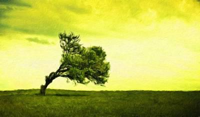 Landscape Painting - Nature Oil Canvas Landscape by Margaret J Rocha