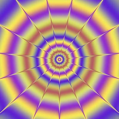 Surrealism Digital Art - Psycho hypno floral pattern by Miroslav Nemecek