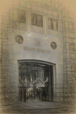 Drawing - 75 State Street by Thomas Logan