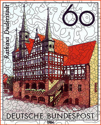 Painting - 750 Years Of The Rathaus Duderstadt by Lanjee Chee