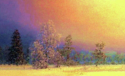 Evening Painting - Nature Landscape Painting by Edna Wallen