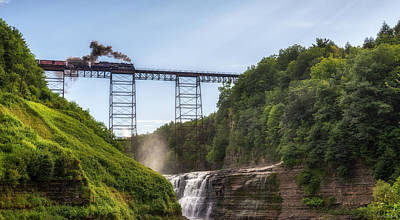 Art Print featuring the photograph 765 Over Upper Falls by Mark Papke