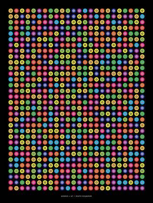 Feynman Digital Art -  768 Digits Of Pi Up To Feynman Point by Martin Krzywinski