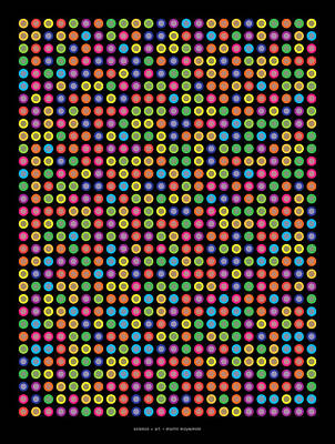 768 Digits Of Pi Up To Feynman Point Art Print by Martin Krzywinski