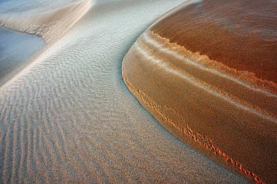 Silver Lake Sand Dunes Print by Dean Pennala