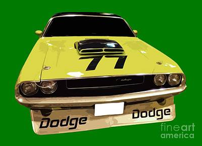 77 Yellow Dodge Art Print