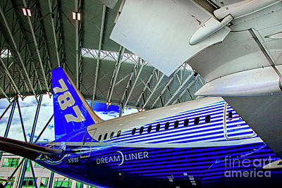 Photograph - 787 Tail Section by Rick Bragan