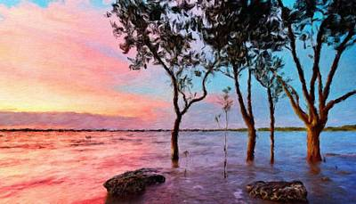 Sun Painting - Nature Oil Paintings Landscapes by Margaret J Rocha