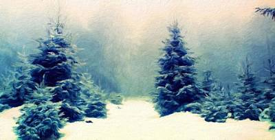 Winter Painting - Nature Scenery Oil Paintings On Canvas by Margaret J Rocha