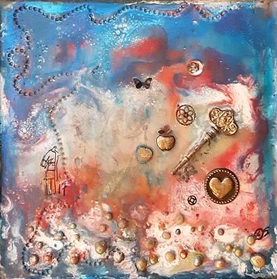 Painting - #790 Secret Dreams by Linda Skibinsky