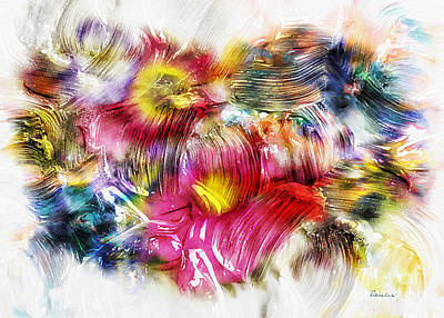 Painting - 7a Abstract Expressionism Digital Painting by Ricardos Creations