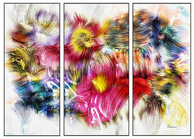 Painting - 7c Abstract Expressionism Digital Painting by Ricardos Creations