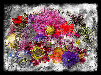 Painting - 7e Abstract Floral Painting Digital Expressionism by Ricardos Creations