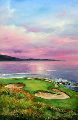 Monterey Painting - 7th At Pebble by Sally Seago