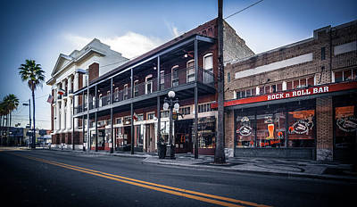Photograph - 7th Ave Rock N Roll Bar by Ybor Photography