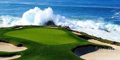 Sports Royalty-Free and Rights-Managed Images - 7th Hole - Pebble Beach  by Michael Graham