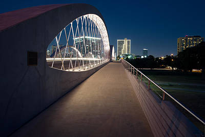 Photograph - 7th Street Bridge In Ft Worth V2 July 2015 by Rospotte Photography